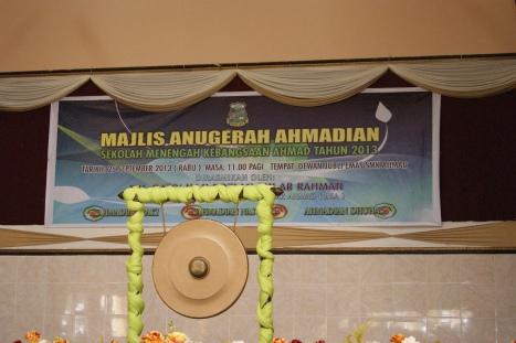 Hari Penyampaian Anugerah Ahmadian SMK Ahmad 2013